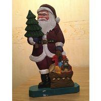 Игрушка новогодняя Дед Мороз, дерево