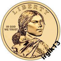1 доллар 2009 года. Сакагавея. Кукуруза. США
