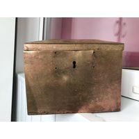 Старинная шкатулка Латунь/бронза