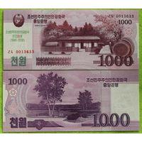 Северная Корея. 1000 вон 2018. [UNC]