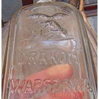 """Старая Польская бутыла из Варшавы  """"DRAKON"""""""