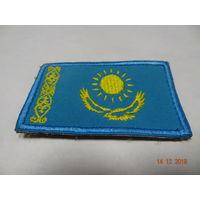 Нашивка на форму флаг Казахстана (на липучке)