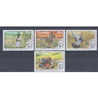 [943] Гренада 1979. Почта.Фауна.Лошади,голубь. MNH