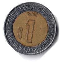 Мексика. 1 песо. 2000 г.