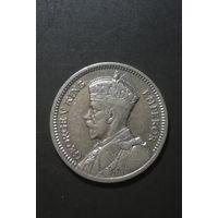 Новая Зеландия 3 Пенса 1933г серебро