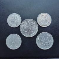 Польша: 50 грошей 1949, 1967, 1 злотый 1949, 2 злотых 1958, 5 злотых 1959, СМОТРИТЕ ДР. МОИ ЛОТЫ.