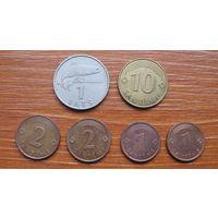Латвия. Набор монет.