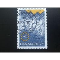 Дания 1992 эмблема объединенной Европы