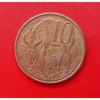 59-38 Эфиопия, 10 центов 2008 г. Единственное предложение монеты данного года на АУ