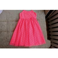 Шикарное нионовое платье H&M р.140