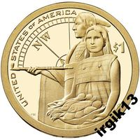 1 доллар 2014 года. Сакагавея. США