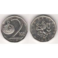 Чехия. 2 кроны 1998 года.