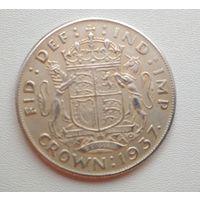 Великобритания. 1 крона 1937 года. Копия
