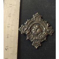 Лацканный знак (фрачник) Святой Антоний, латунь, серебрение.