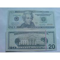 США 20 долларов сувенир.  распродажа