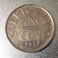 Швеция 5 крон, 1990 год, медь-никель