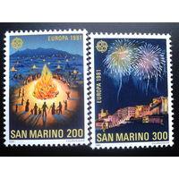 Сан-Марино 1981 Европа праздники полная