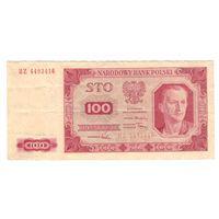 Польша 100 злотых 1948 года. Нечастая! Состояние VF+