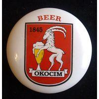 Фаянсовый значок на пивную башню (Okocim)