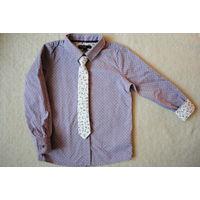 Рубашка Marks&Spenser надели 2 раза 5-6 л 110-116