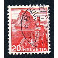 18: Швейцария, почтовая марка, 1936 год, номинал 20с, SG#375A