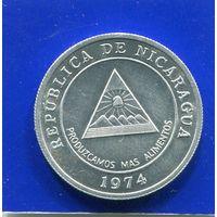 Никарагуа 5 сентаво 1974 UNC , ФАО