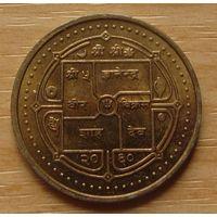 НЕПАЛ-2рупии2003г.      KM# 1151.1