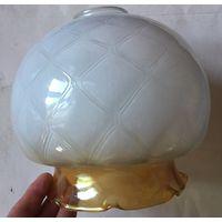 Плафон СССР толстое стекло для люстры бра настольной лампы светильника
