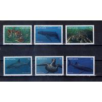 Морская фауна  на марках Гренады  15 Михель-Евро