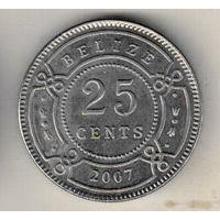 Белиз 25 цент 2007