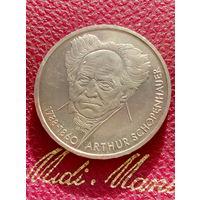 10 марок ФРГ серебро 0,625 Arthur Schopenhauer. 61.