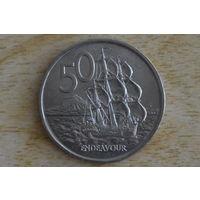 Новая Зеландия 50 центов 1967(первый год)