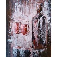 "Картина акрилом ""Бутылка вина"""