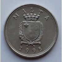 Мальта 10 центов. 1998