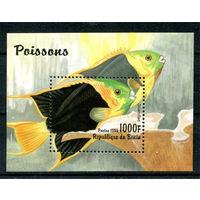 Бенин - 1996г. - Рыбки - полная серия, MNH [Mibl. 23] - 1 блок