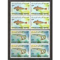 Мавритания Рыбы квартблоки