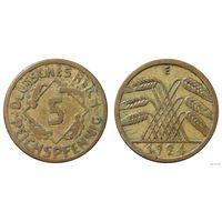 YS: Германия, 5 рейхспфеннигов 1924E, KM# 39