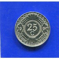 Антильские острова 25 центов 1990 UNC