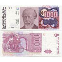 Аргентина. 1000 аустралей (образца 1988-90 года, P329d, UNC)