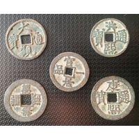 Лот монет старого Китая