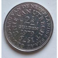 Нидерланды 2.5 гульдена, 1979 400 лет Утрехтской унии 4-12-3