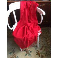 Шаль палантин цвет красный ( не малиновый) 180 х 70 вискоза