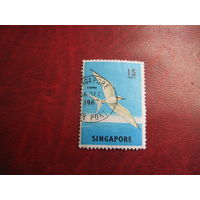 Марка Светлая крачка 1962 год Сингапур