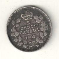 Канада 5 цент 1902