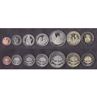 ИНДЕЙЦЫ РЕЗЕРВАЦИЯ САНТА ИЗАБЕЛЬ США 2012 год UNC (1, 5, 10, 25, 50 центов и 1 и 5 долларов)