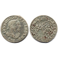 6 грошей (шостак) 1684 TLB, Ян III Собесский, Быдгощ. Ав: портрет в античной тоге. Штемпельный блеск