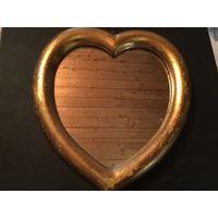 Зеркало Сердце золотая рама Германия