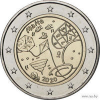 2 евро 2020 Мальта Игры UNC из ролла