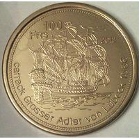 Остров ТРОМЛЕН 100 франков 2013 год (оригинал)