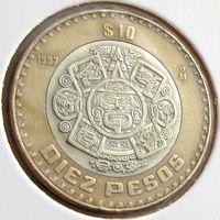 Мексика, 10 песо 1997 года, KM#616